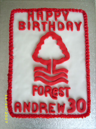 Forest cake top view