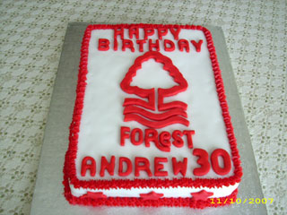 Forest cake showing sides